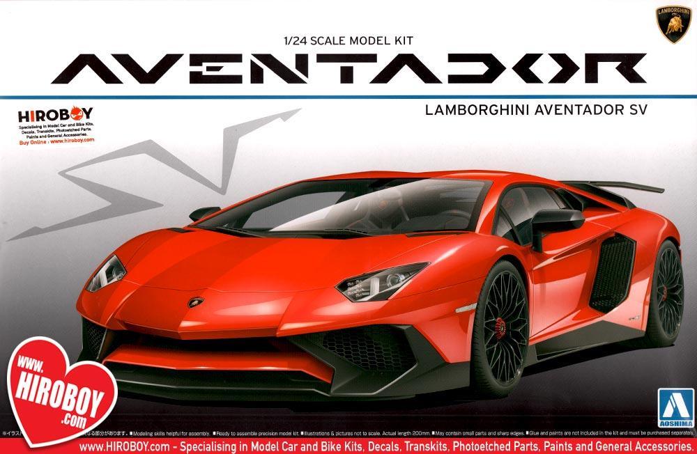 1 24 Lamborghini Aventador Sv Lp 750 4 Model Kit Aos 051207 Aoshima