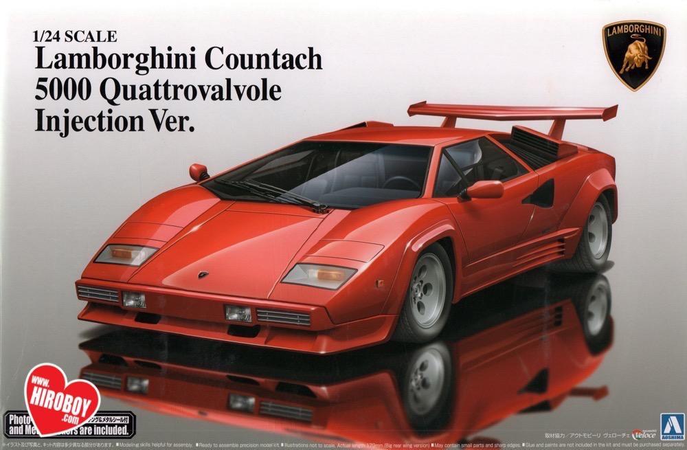 1 24 Lamborghini Countach 5000 Quattrovalvole Injection Ver Model