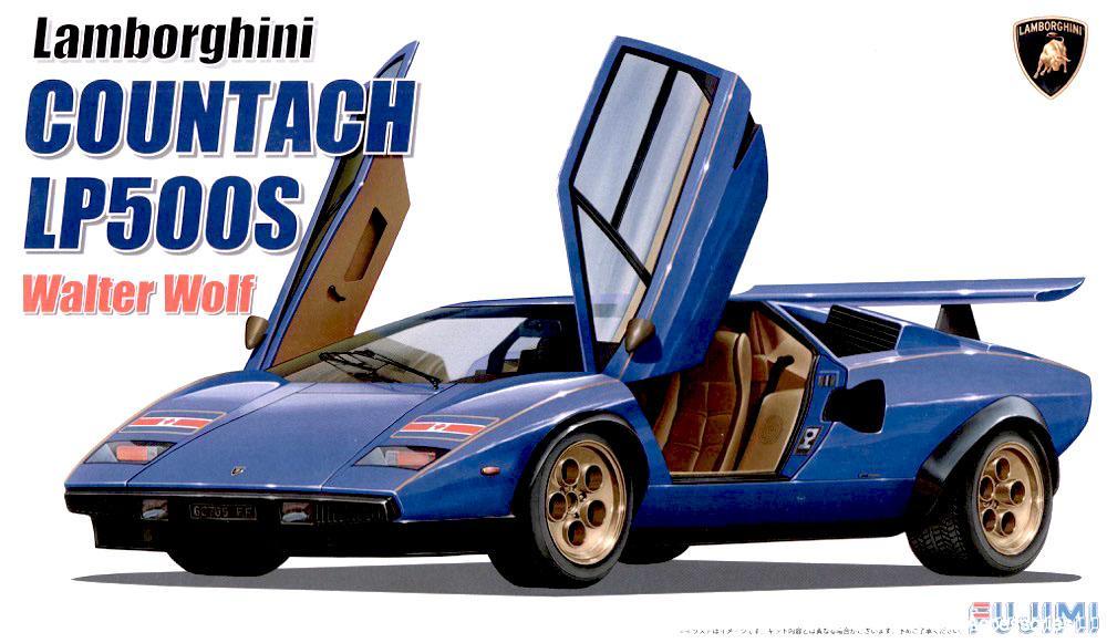 1 24 Lamborghini Countach Lp500s Walter Wolf Fuj 082820 Fujimi