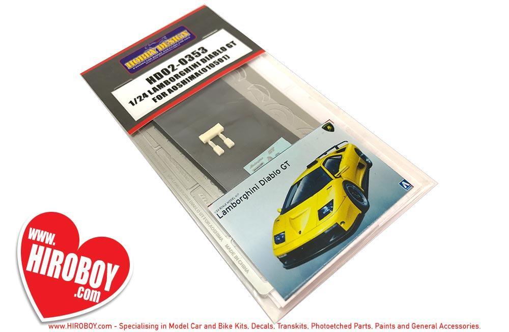 1 24 Lamborghini Diablo Gt Photoetched Detail Set Aoshima Hd02