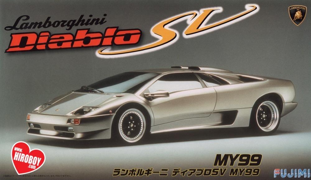 1 24 Lamborghini Diablo Sv My99 Model Kit Fuj 126340 Fujimi
