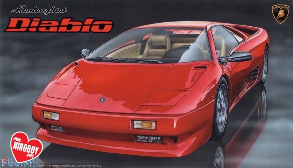 1 24 Lamborghini Diablo Model Kit Fuj 126418 Fujimi