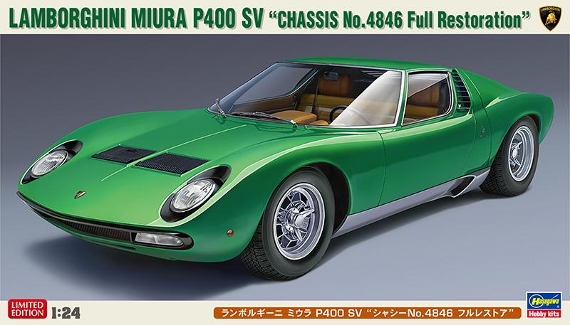 1 24 Lamborghini Miura P400 Sv Chassis No 4846 Full Restoration Kit