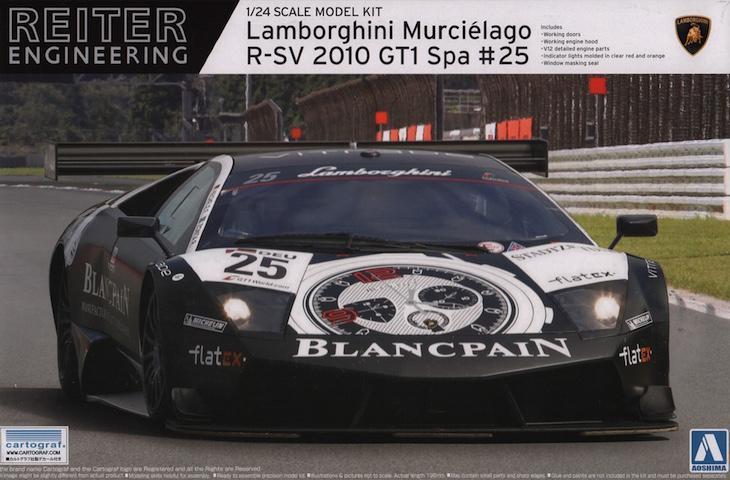 1:24 Lamborghini Murcielago R SV Spa 2010 Blancpain