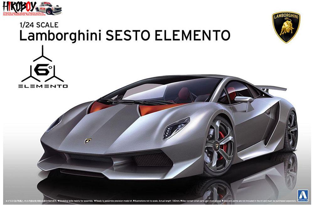 1 24 Lamborghini Sesto Elemento Aos 010730 Aoshima