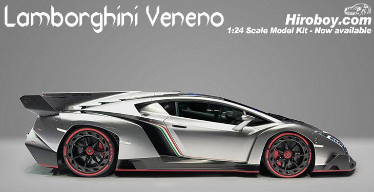 Charmant ... 1:24 Lamborghini Veneno Model Kit Deluxe C/w Engine Detail And  Photoetched Parts ...