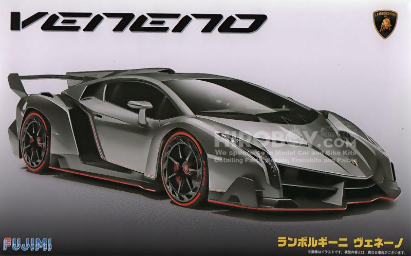 1 24 Lamborghini Veneno Model Kit C W Engine Detail Fuj 125831