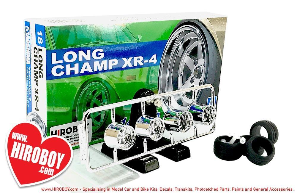 14 Zoll Long Champ XR-4 Felgen /& Reifen Wheel Tire 1:24 Model Kit Aoshima 052570
