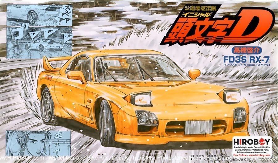 1:24 Mazda RX-7 FD3S A Spec (Initial D) Keisuke Takahashi Model Kit