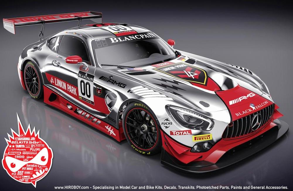 Racing Number Decals >> 1:24 Mercedes-AMG GT3 Linkin Park #00 Decals | SF-D24-002 | Slotfabrik