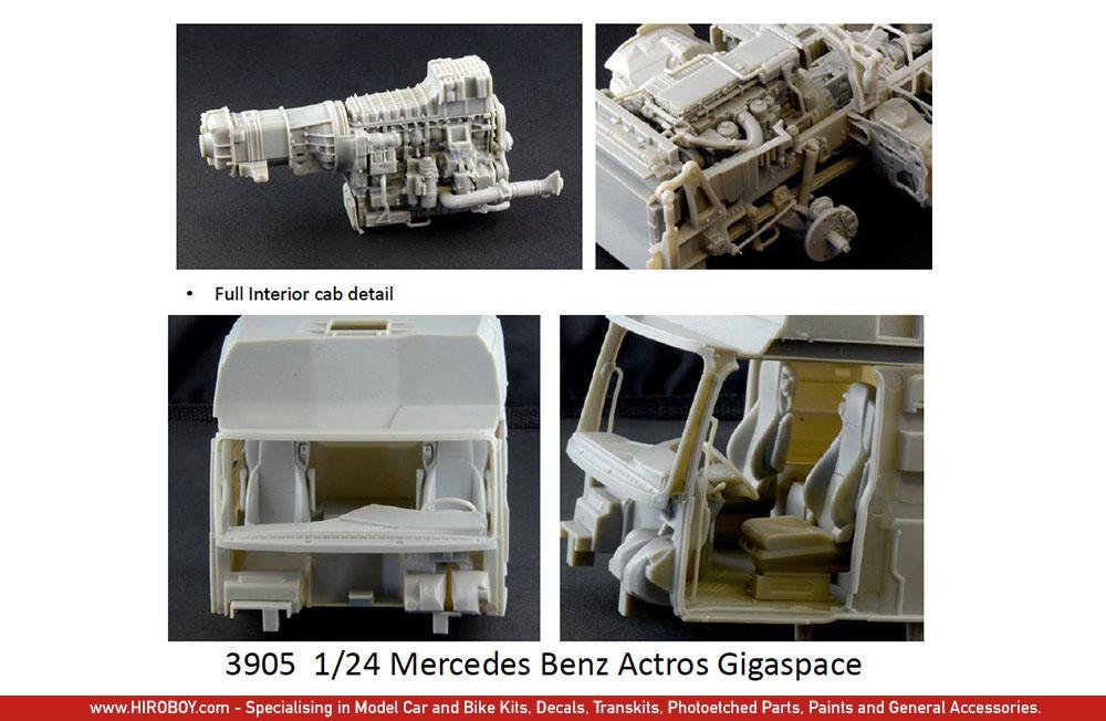 Neu Italeri 3905-1//24 Mercedes-Benz Actros Mp4 Gigaspace