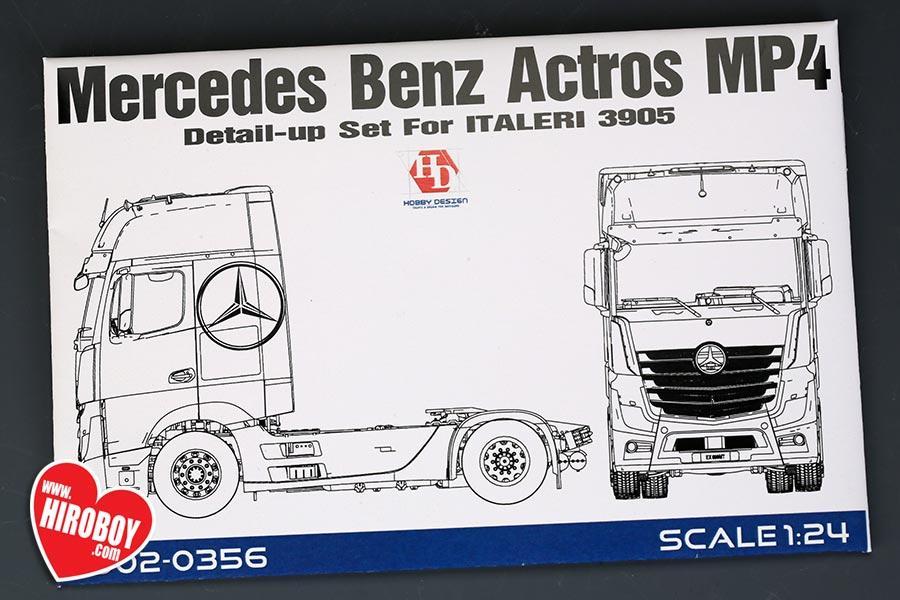 1:24 Mercedes Benz Actros MP4 Detail-UP Set For Italeri 3905 (PE+Metal Logo)
