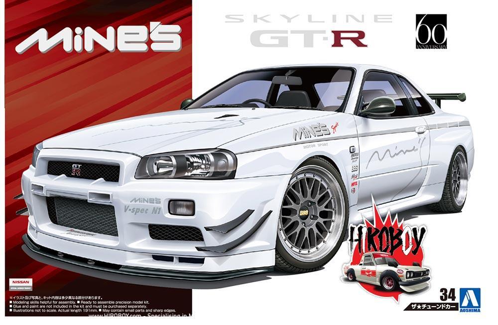 1:24 Mines Nissan Skyline R34 GT-R