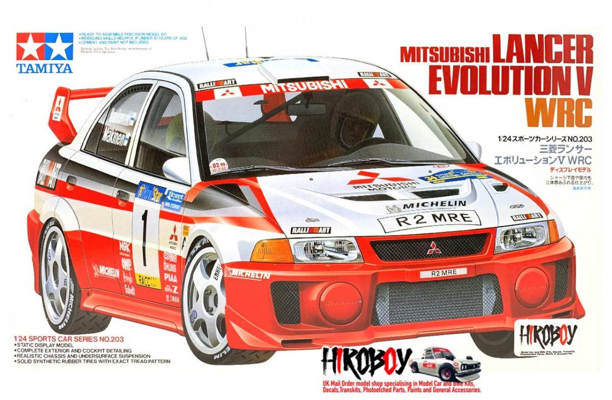 Tamiya 1//24 Mitsubishi Lancer Evo V WRC model kit # 24203