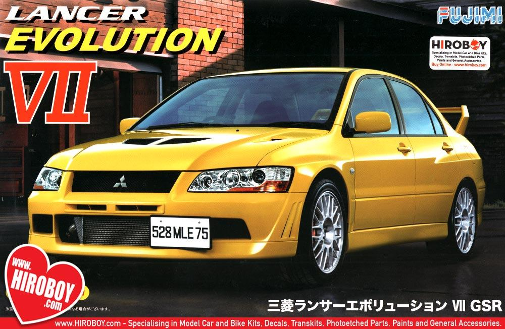 1 24 mitsubishi lancer evolution vii gsr model kit fuj 039206 fujimi rh hiroboy com Mitsubishi Lancer Evolution IX 2001 Mitsubishi Lancer Evolution