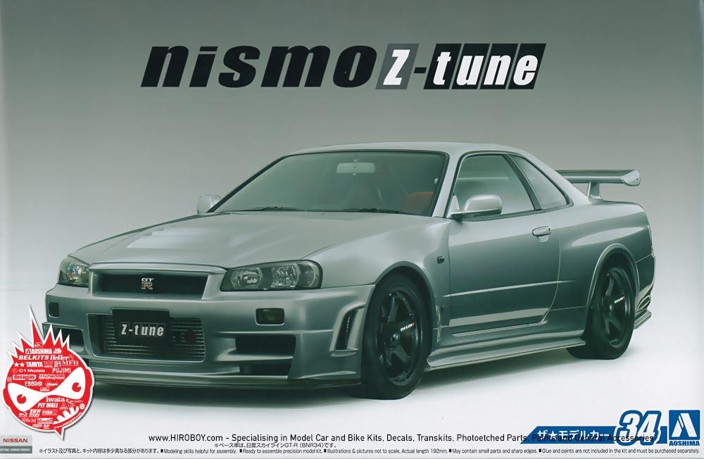 1:24 Nismo R34 Skyline GT-R Z-Tune | AOS-053164 | Aoshima