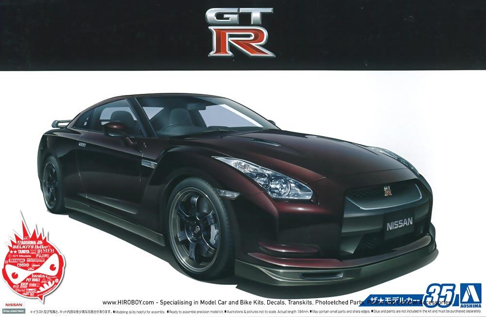 1 24 nissan gt r r35 v spec aos 053171 aoshima. Black Bedroom Furniture Sets. Home Design Ideas