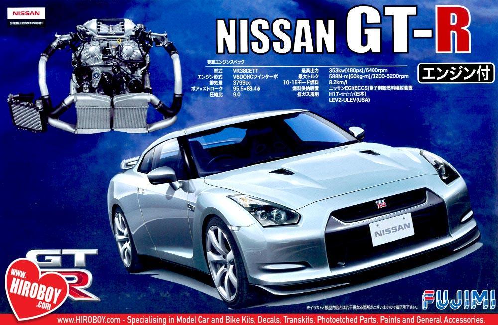 1:24 Nissan GT R (R35) C/w Engine Model Kit