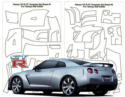 1:24 Nissan R35 GT R Template Composite Fiber Decal Template Set