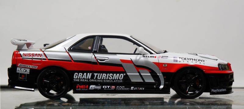 1 24 Nissan Skyline Gt R R34 Ps2 Gran Turismo Decals