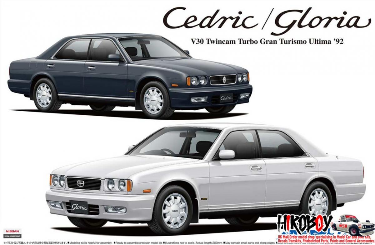 1 24 Nissan Y32 Cedric Gloria V30 Twincam Turbo Gran Turismo Altima 92 Aos 56523 Aoshima