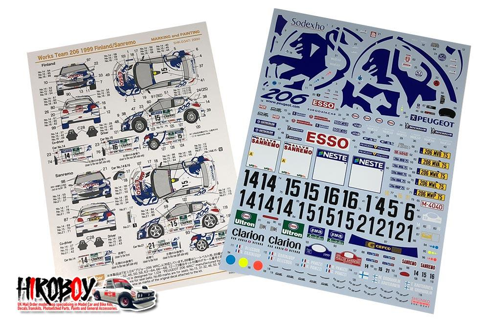 DECALS 1//43 FORD ESCORT WRC SOLBERG RALLY SVEZIA 1999