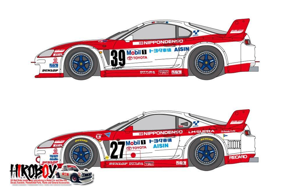 1:24 Denso Toyota Supra GT 1995 LM & GT Decals (Tamiya)
