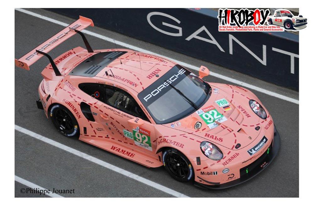 124 Porsche 911 RSR 92 1st GT Pro Pink Pig Le Mans 2018