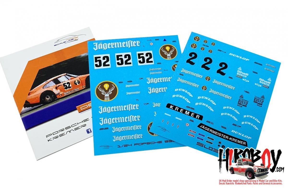 1 24 Porsche 935 K3 Jagermeister Kremer Racing Decals Nunu Sl03 002 Scalelab 24
