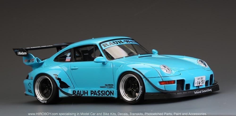 "List Of Cars >> 1:24 RWB Porsche 993 Widebody Kit For Ver. ""Rauh Passion"" (Resin+PE+Decals+Metal parts) 
