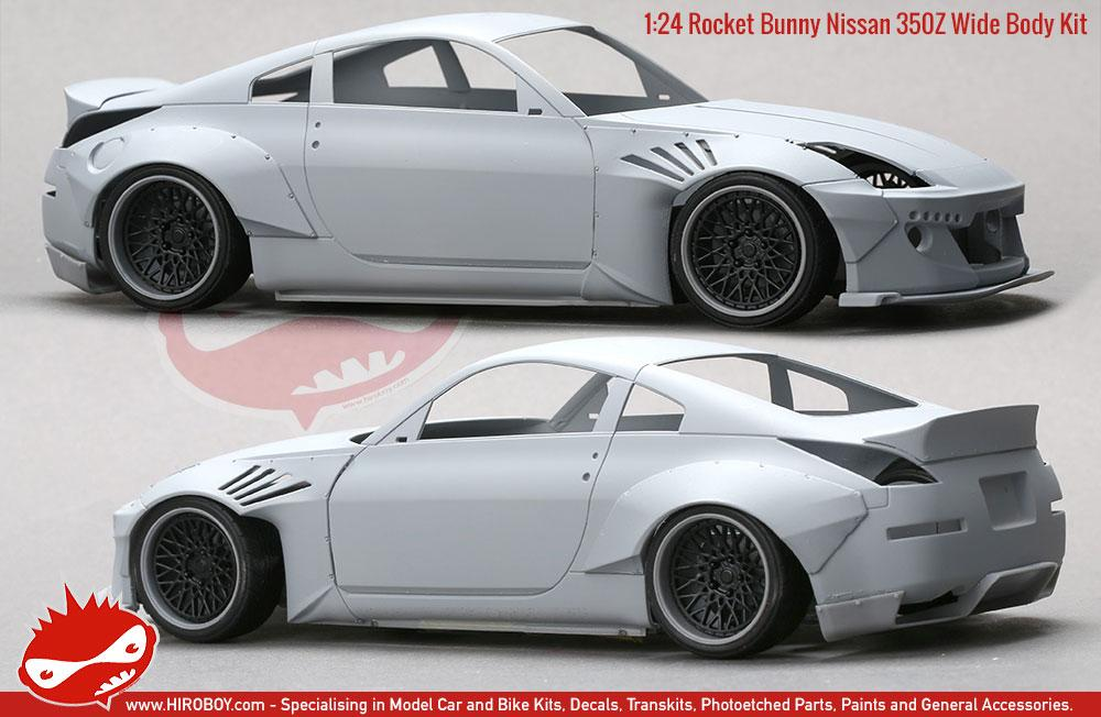 1 24 rocket bunny nissan 350z wide body kit resin pe hd03 0460