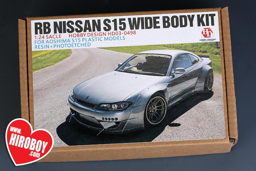 1:24 Rocket Bunny Nissan S15 Wide Body Kit For Aoshima