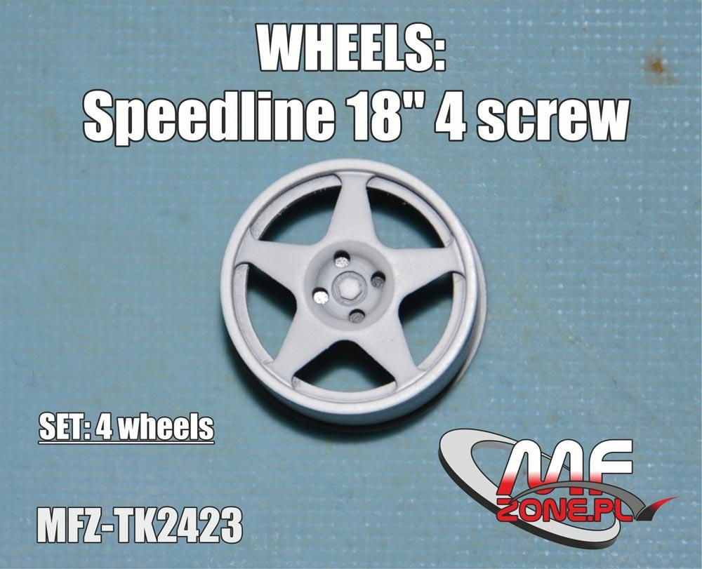 1:24 Speedline Wheels 5 Spoke 4 Stud | MFZ-TK2423 | MF-Zone