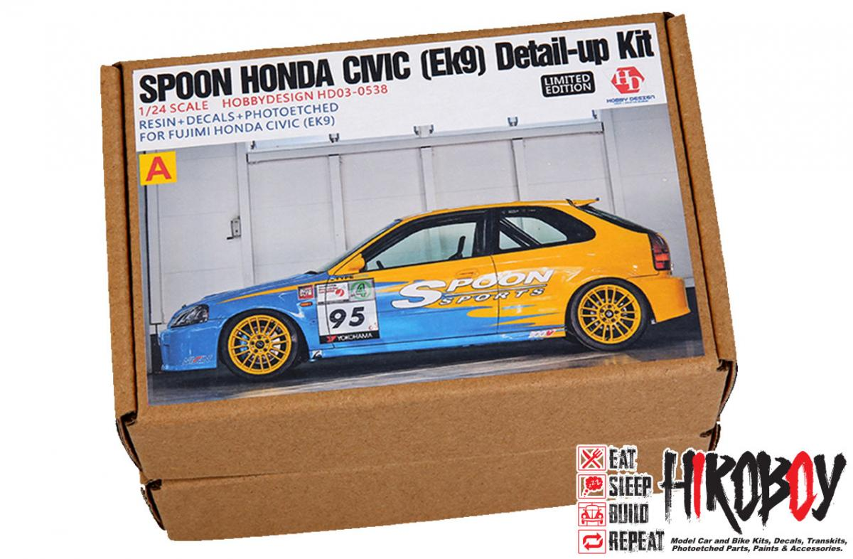 1 24 spoon honda civic ek9 detail up kit for fujimi resin pe decals metal parts