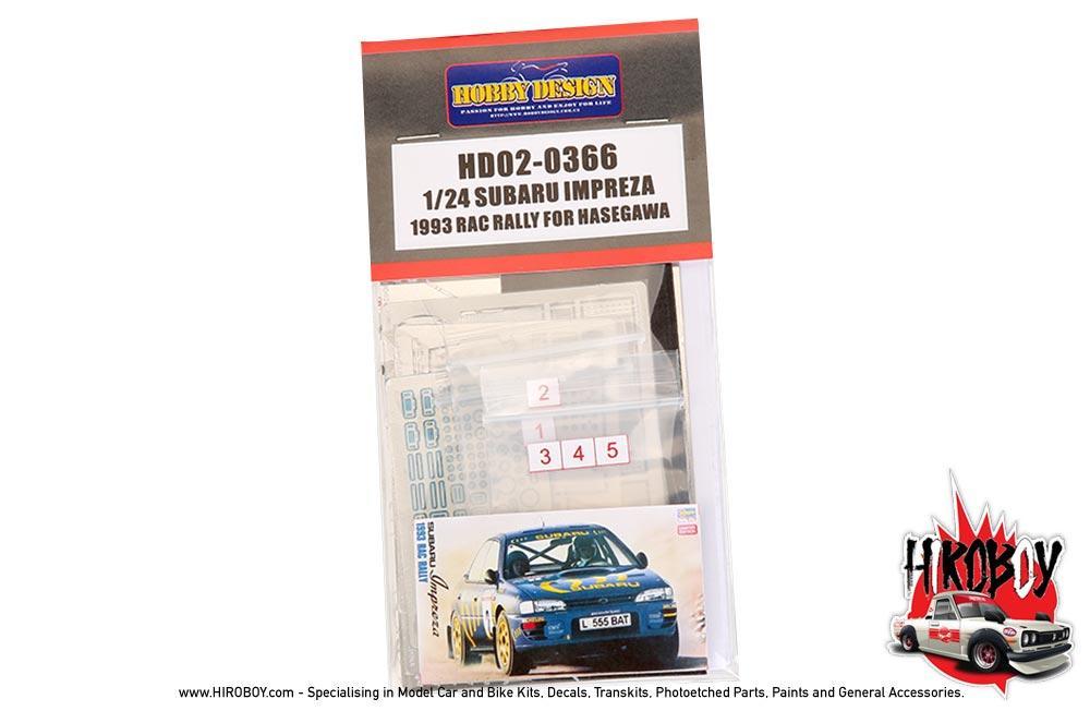 1 24 Subaru Impreza 1993 Rac Rally For Hasegawa Pe Metal Parts