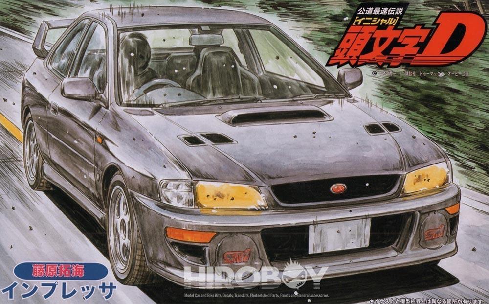 1 24 Subaru Impreza V Wrx Sti Gc8 Initial D Fujiwara Fuj 18353 Rh Hiroboy Com Front GC8 99