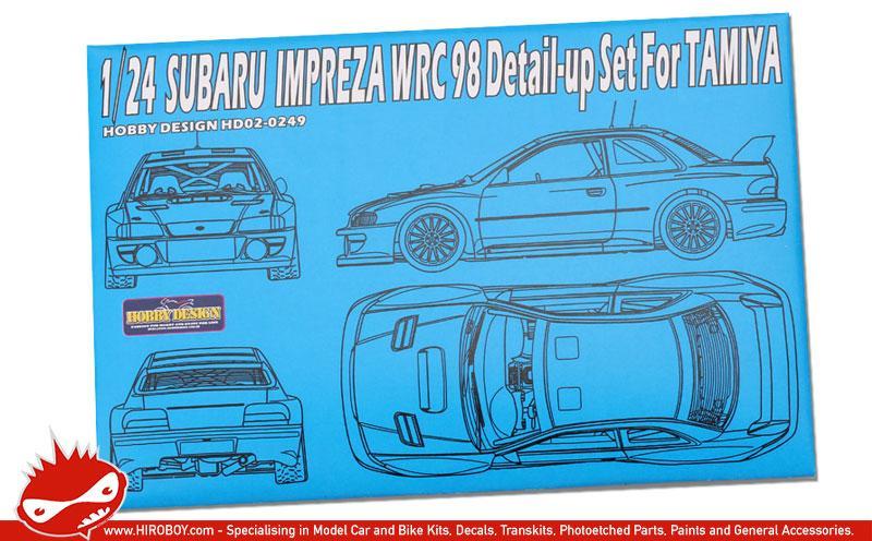 1 24 Subaru Impreza Wrc 98 Detail Up Set For Tamiya Pe Resin Metal