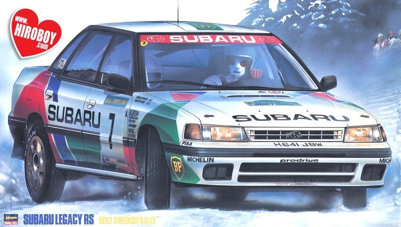 1 24 Subaru Legacy Rs 1992 Swedish Rally Has 20290 Hasegawa