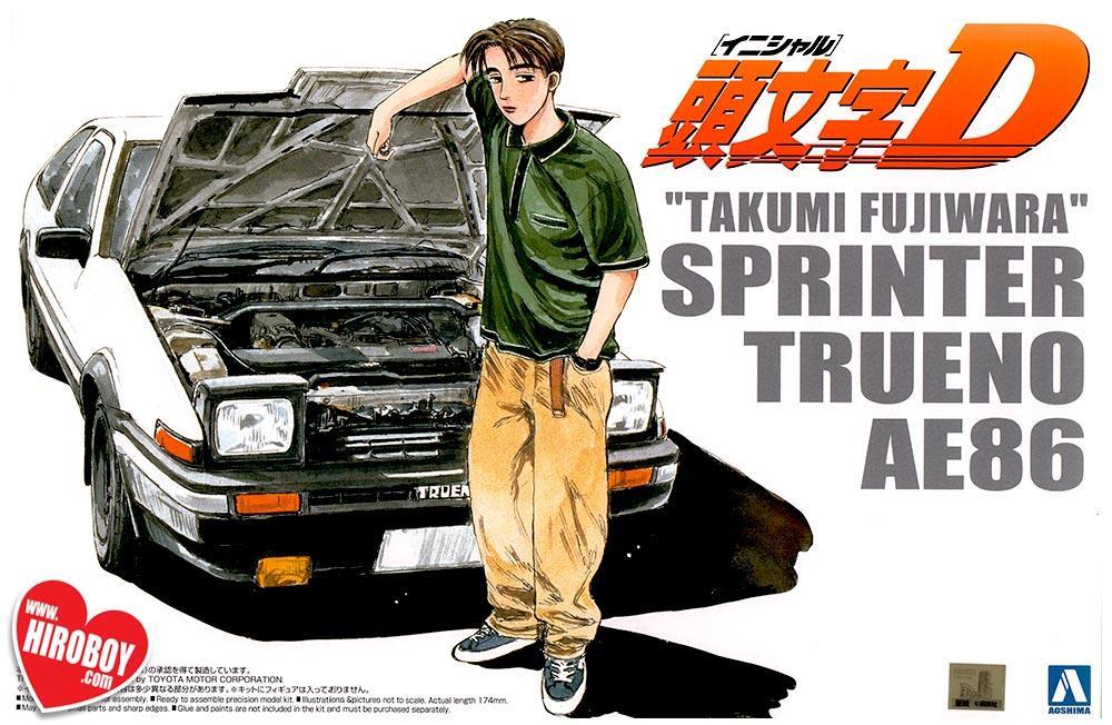 Toyota Trueno AE86 Weiss Initial D Mit Figur 1//24 Jada Modell Auto mit oder ohne