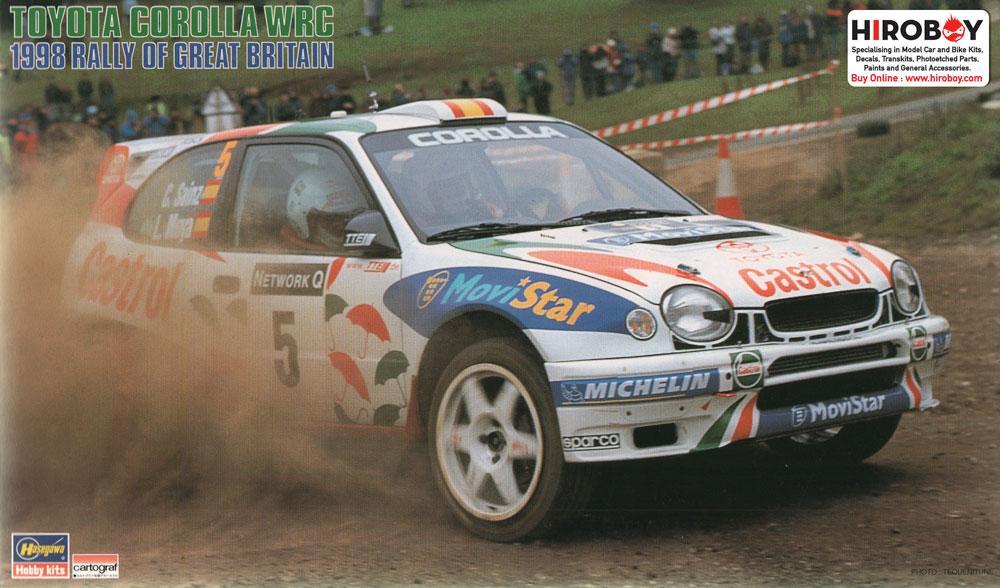 1:24 Toyota Corolla WRC 1998 Rally Great Britian   HAS-CR-25   Hasegawa