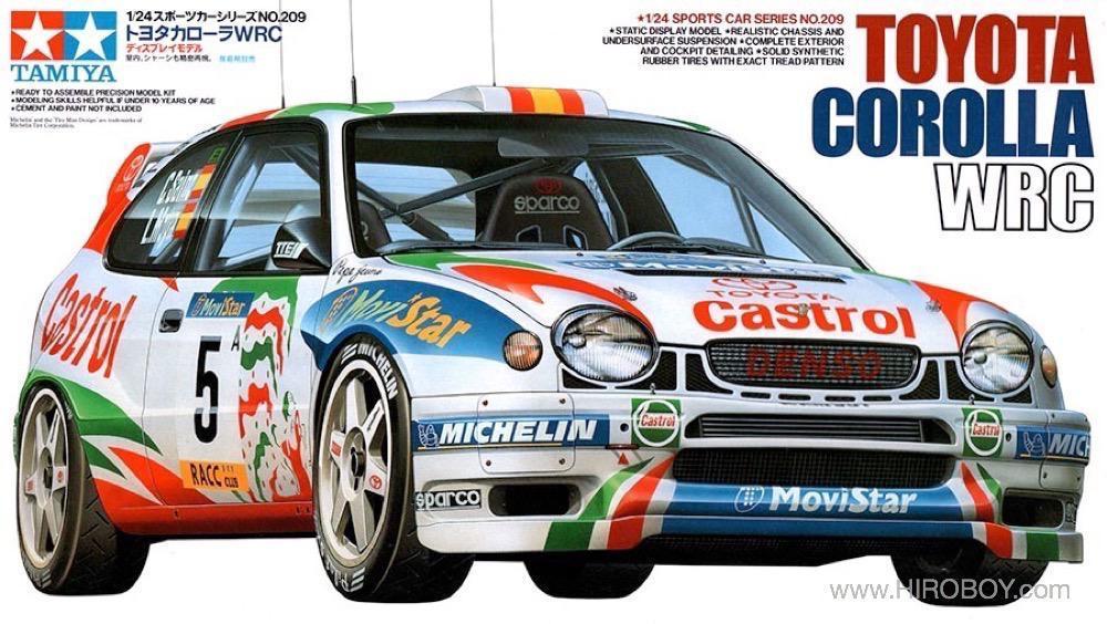 1:24 Toyota Corolla WRC Castrol - 24209 | TAM24209 | Tamiya