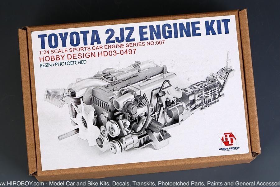 1:24 Toyota Supra 2JZ Engine Full Detail Kit
