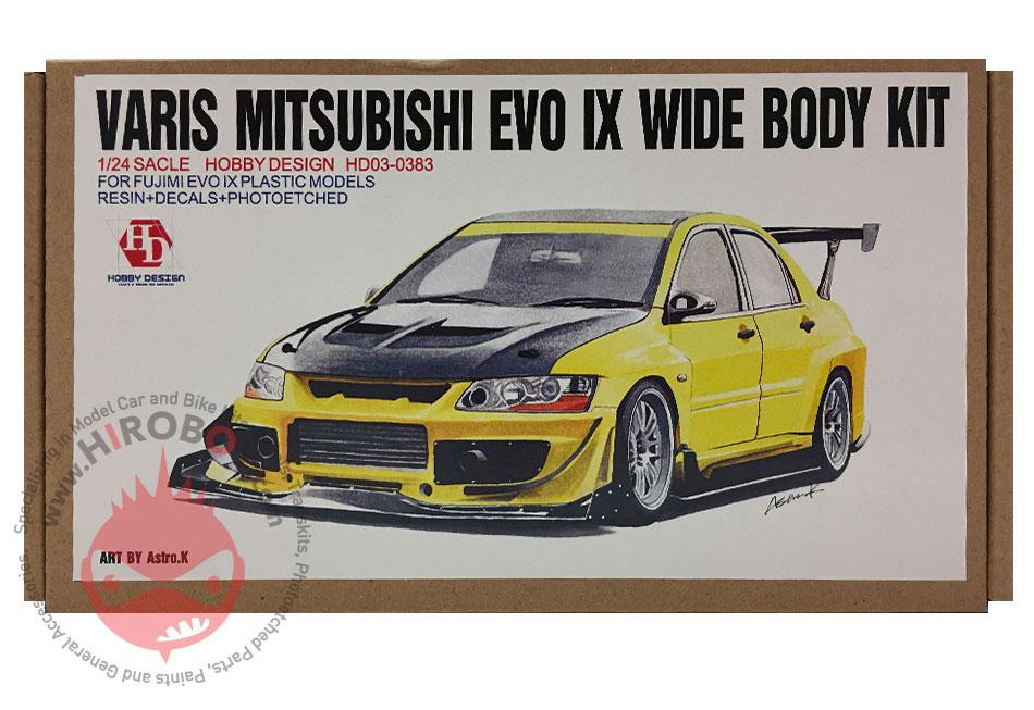 1:24 Varis Mitsubishi EVO IX Wide Body Kit (Resin+PE+Decals+Metal  parts)(HD03-0383)