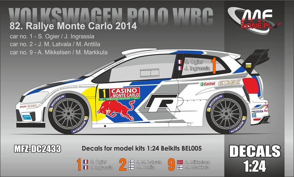 Volkswagen Polo Wrc Motorsport #2 Winner Rally France 2014 BURAGO 1:32 BU41018