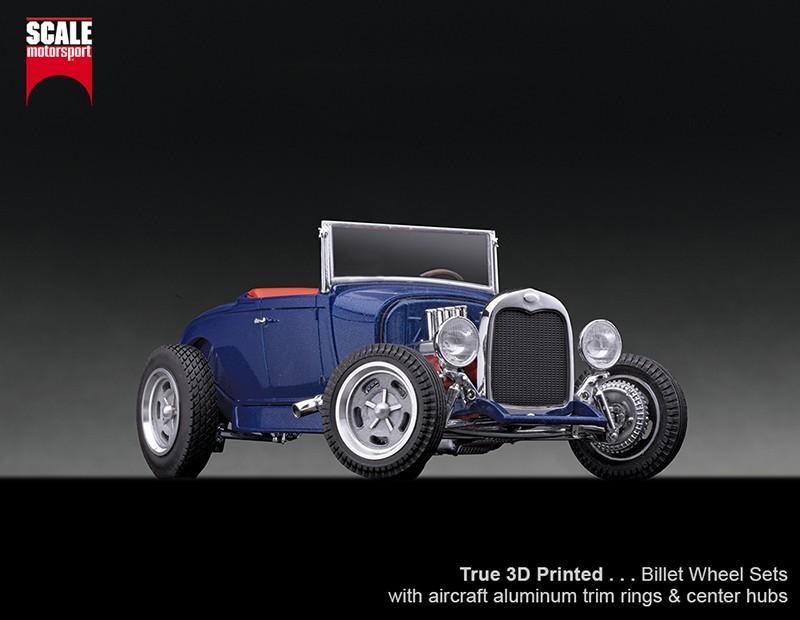 1:24 3D Printed Billet Wheel Set #1 - Bigs