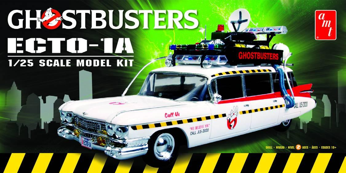 1 25 Ghostbusters Ecto 1a Model Kit Amt750m Amt