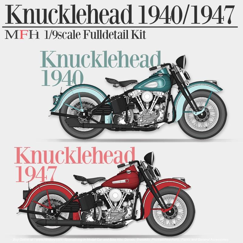 1:9 Harley-Davidson Knucklehead 1947 Multi Media Model Kit