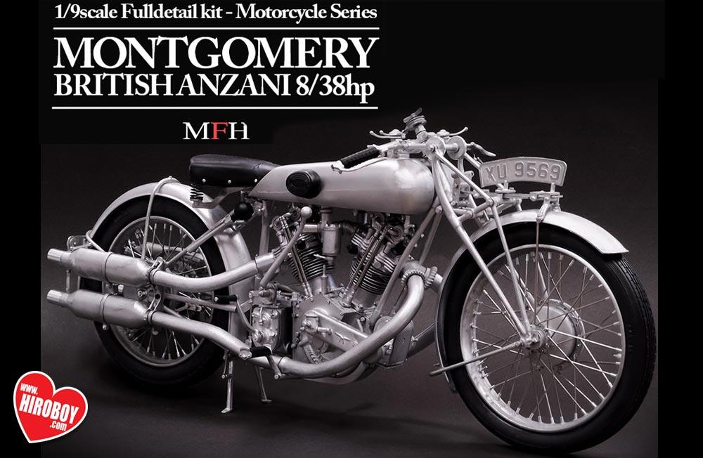 1:9 Montgomery British Anzani Motorcycle   Full Detail Multi Media Kit