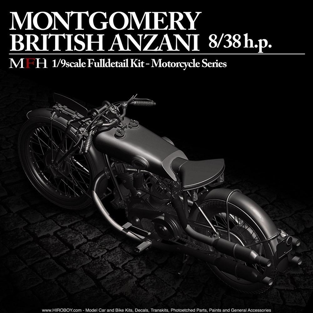... 1:9 Montgomery British Anzani Motorcycle   Full Detail Multi Media Kit  ...