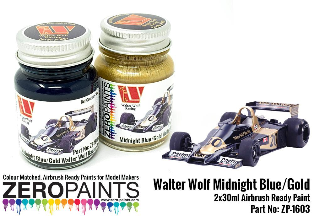 Walter Wolf Midnight Blue and Gold Paint Set 2x30ml